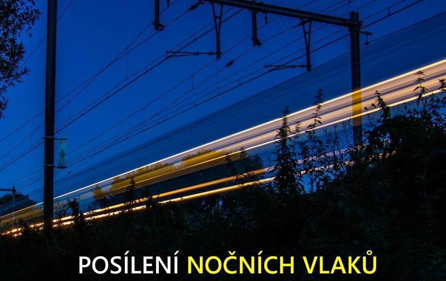 České dráhy posílí noční vlaky pro účastníky Křížem Krážem